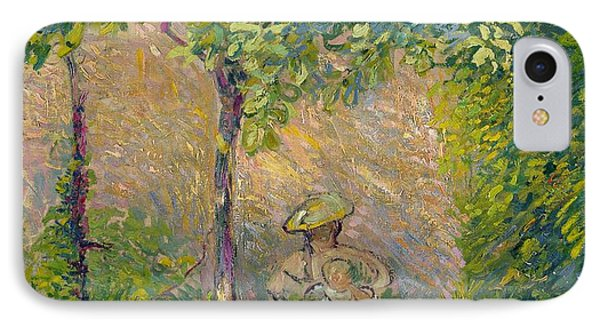 Woman In The Garden IPhone Case by Hippolyte Petitjean