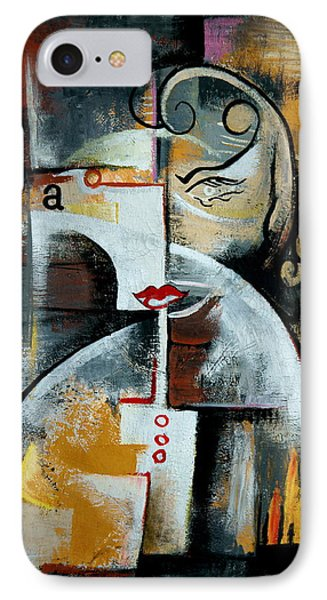 IPhone Case featuring the painting Woman by Kim Gauge