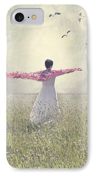 Woman On A Lawn Phone Case by Joana Kruse
