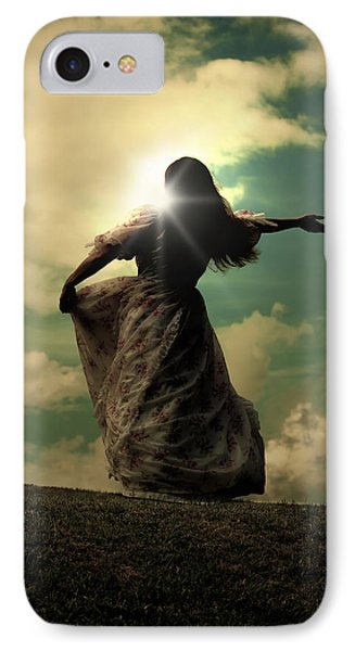 Woman On A Meadow IPhone Case by Joana Kruse