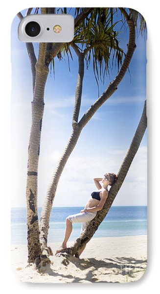 Woman On Holiday IPhone Case by Jorgo Photography - Wall Art Gallery