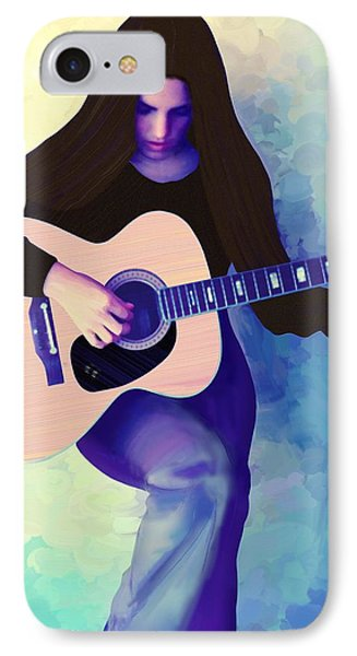Woman Playing Guitar IPhone Case