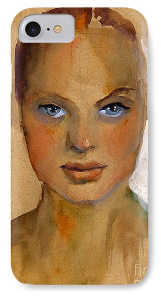 Woman Portrait Sketch IPhone 7 Case by Svetlana Novikova