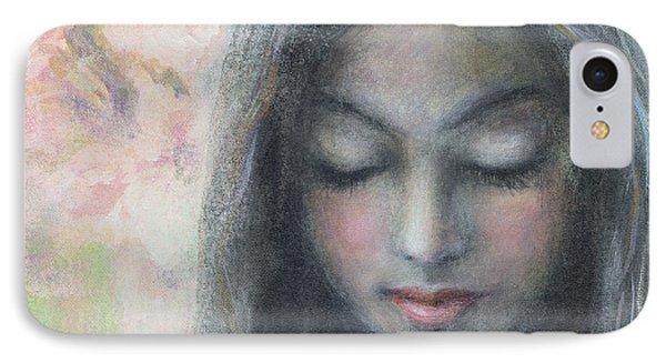 Woman Praying Meditation Painting Print IPhone Case