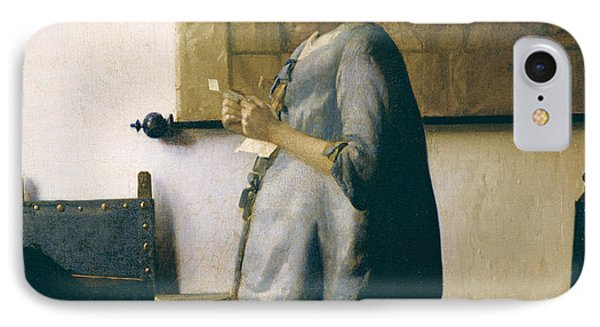 Woman Reading A Letter Phone Case by Jan Vermeer