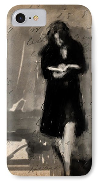 Woman Reading Phone Case by H James Hoff