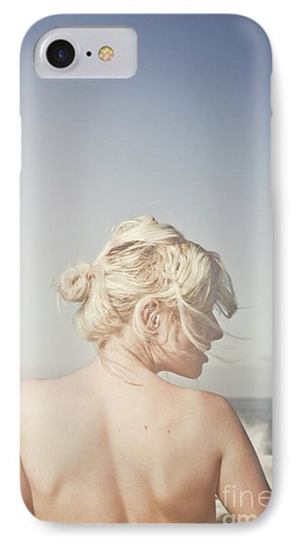 Woman Relaxing On The Beach IPhone Case by Jorgo Photography - Wall Art Gallery