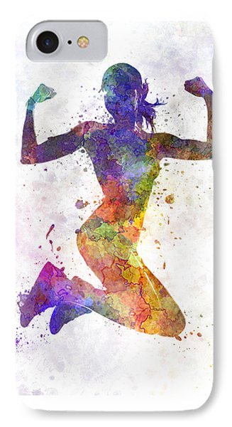 Woman Runner Jogger Jumping Powerful IPhone 7 Case
