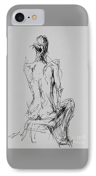 Woman Seated IPhone Case by Robert Yaeger
