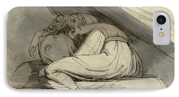 Woman Sitting Curled Up IPhone Case by Henry Fuseli