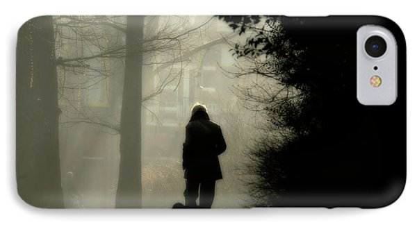 IPhone Case featuring the photograph Woman Walking Dog by Patricia Hofmeester