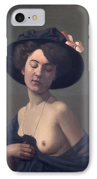 Woman With A Black Hat IPhone Case by Felix Vallotton