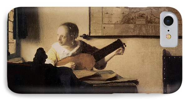 Woman With A Lute IPhone Case by Jan Vermeer