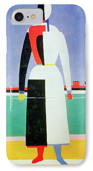 Woman With A Rake IPhone Case by Kazimir Severinovich Malevich