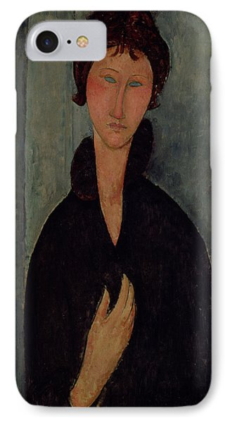 Woman With Blue Eyes Phone Case by Amedeo Modigliani