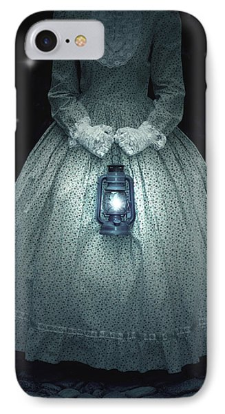 Woman With Lantern IPhone Case by Joana Kruse