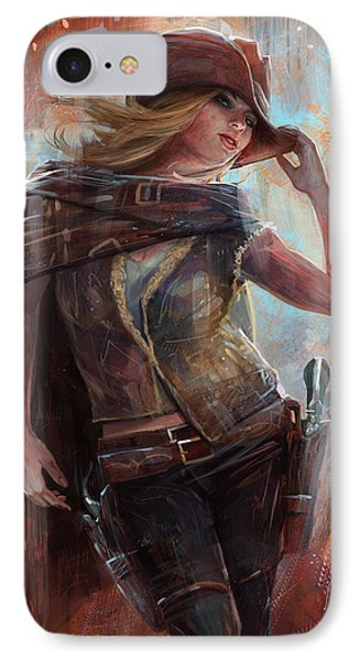 IPhone Case featuring the digital art Woman With No Name by Steve Goad