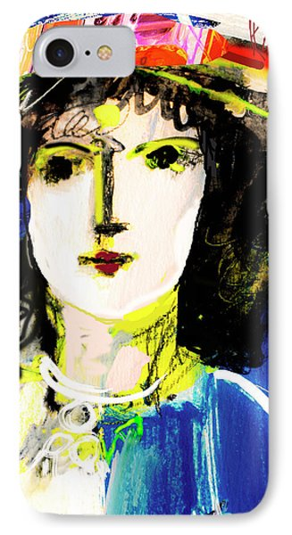 Woman With Party Hat IPhone Case