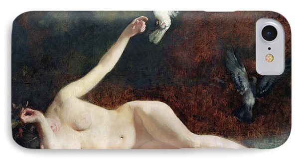 Woman With Pigeons Phone Case by Ernst Philippe Zacharie