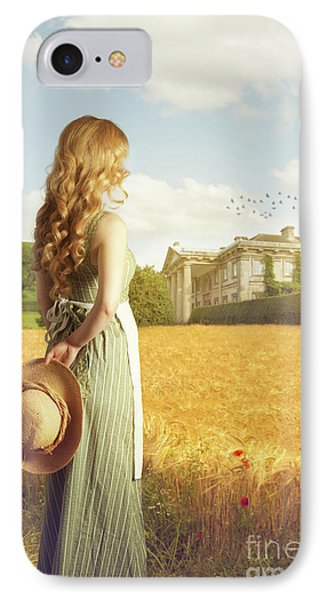 Woman With Straw Hat IPhone Case by Amanda Elwell