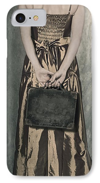 Woman With Suitcase IPhone Case by Joana Kruse