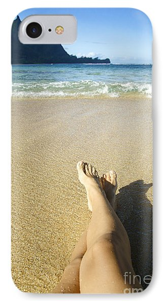 Womans Legs Relaxing Phone Case by Kicka Witte - Printscapes