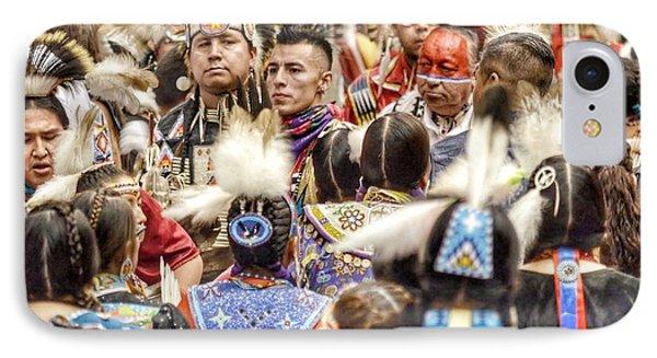 Women And Men Meet IPhone Case by Clarice Lakota