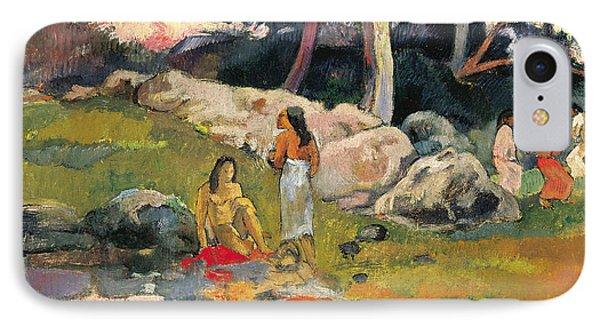 Women By The Riverside IPhone Case by Paul Gauguin