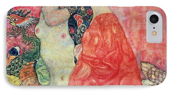Women Friends IPhone Case by Gustav Klimt