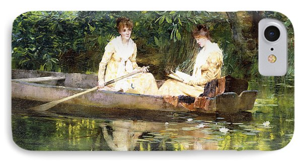 Women In A Rowboat IPhone Case by Francis Coates Jones