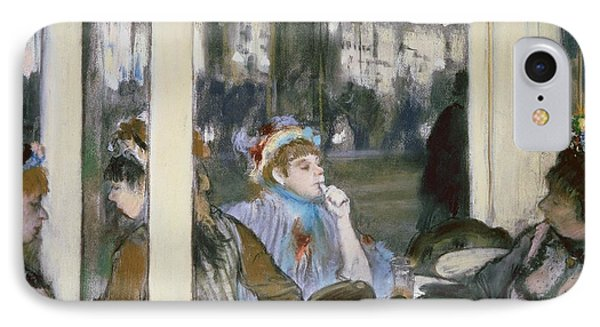 Women On A Cafe Terrace Phone Case by Edgar Degas