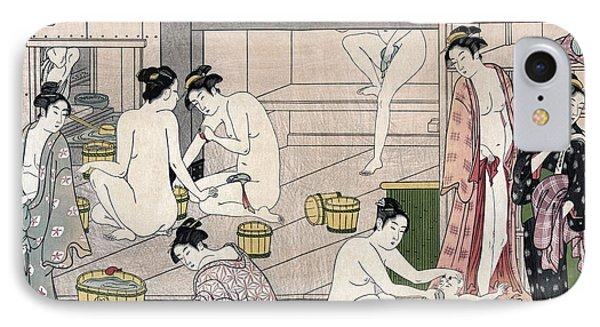 Women's Bathhouse IPhone Case by Torii Kiyonaga
