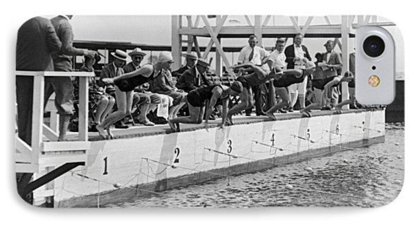 Women's Swimming Championship IPhone Case by Underwood Archives