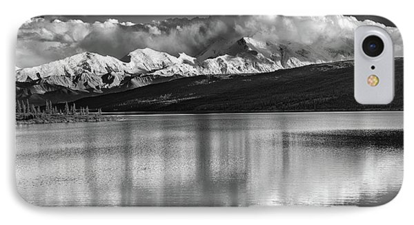 Wonder Lake In Black And White IPhone Case by Rick Berk