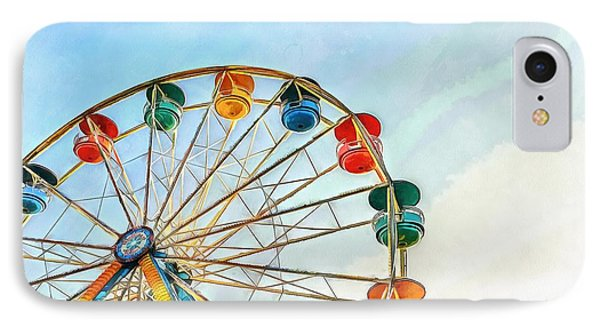 IPhone Case featuring the painting Wonder Wheel by Edward Fielding