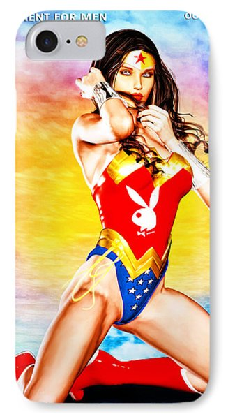 Wonder Woman 2085 IPhone Case by Alicia Hollinger