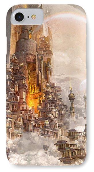 Wonders Tower Of Babylon IPhone Case by Te Hu