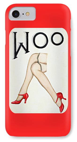 Woo Phone Case by Ethna Gillespie