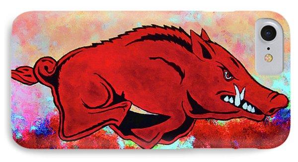 Woo Pig Sooie 3 IPhone Case by Belinda Nagy