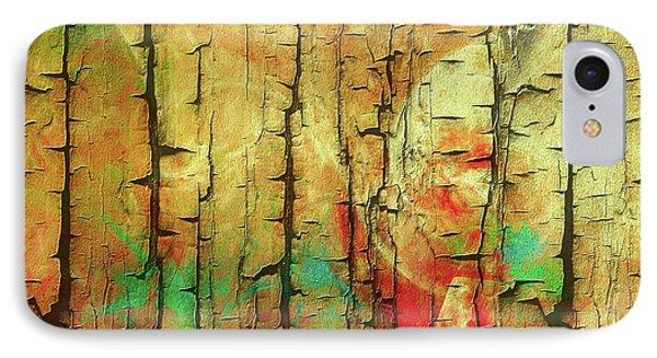 IPhone Case featuring the digital art Wood Abstract by Deborah Benoit