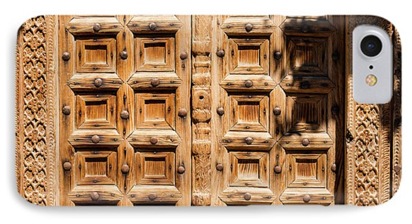 Wood Carved Doors IPhone Case by Bob Phillips