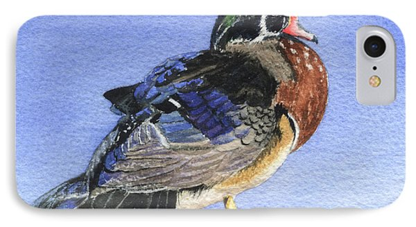 Wood Duck Phone Case by Lynn Quinn