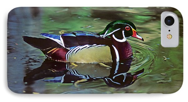 IPhone Case featuring the photograph Wood Duck by Marie Hicks
