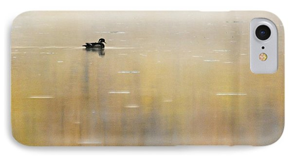 IPhone Case featuring the photograph Wood Duck On Golden Pond by Larry Ricker