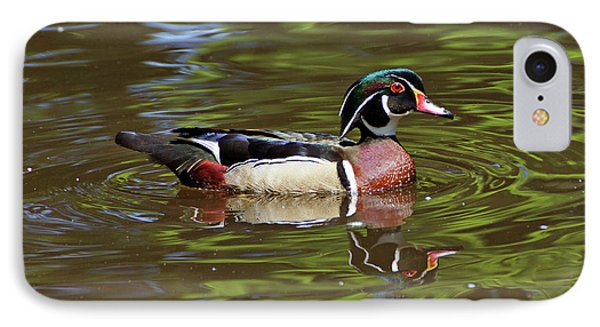 IPhone Case featuring the photograph Wood Duck by Sandy Keeton
