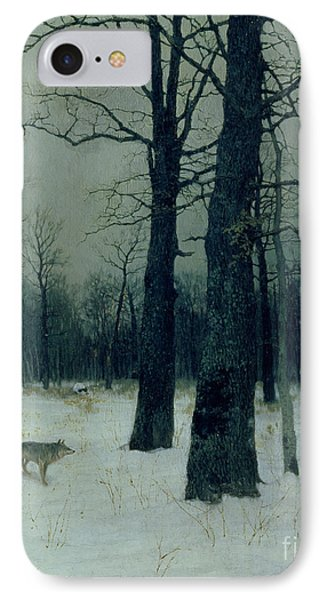 Wood In Winter IPhone Case by Isaak Ilyic Levitan