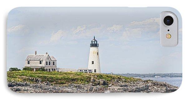Wood Island Light IPhone Case by Richard Bean