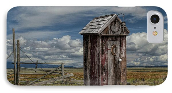 Wood Outhouse Out West IPhone Case by Randall Nyhof