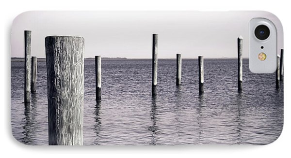 IPhone Case featuring the photograph Wood Pilings In Monotone by Colleen Kammerer