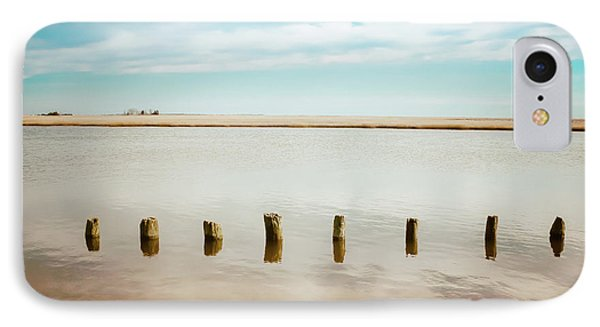 IPhone Case featuring the photograph Wood Pilings In Shallow Waters by Colleen Kammerer